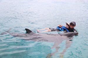 Dolfijn therapie Curacao zwemmen